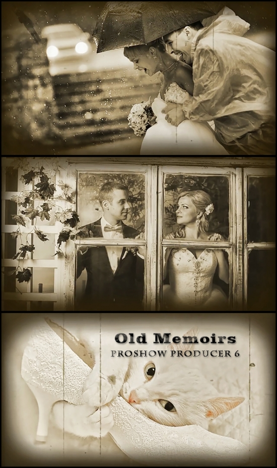 "Проекты ProShow Producer ""Воспоминания"" - ""Old Memoirs"" end ""Loneliness"" (PSH)"
